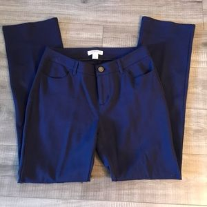 Coldwater Creek Navy Natural Fit Petite Pants firm